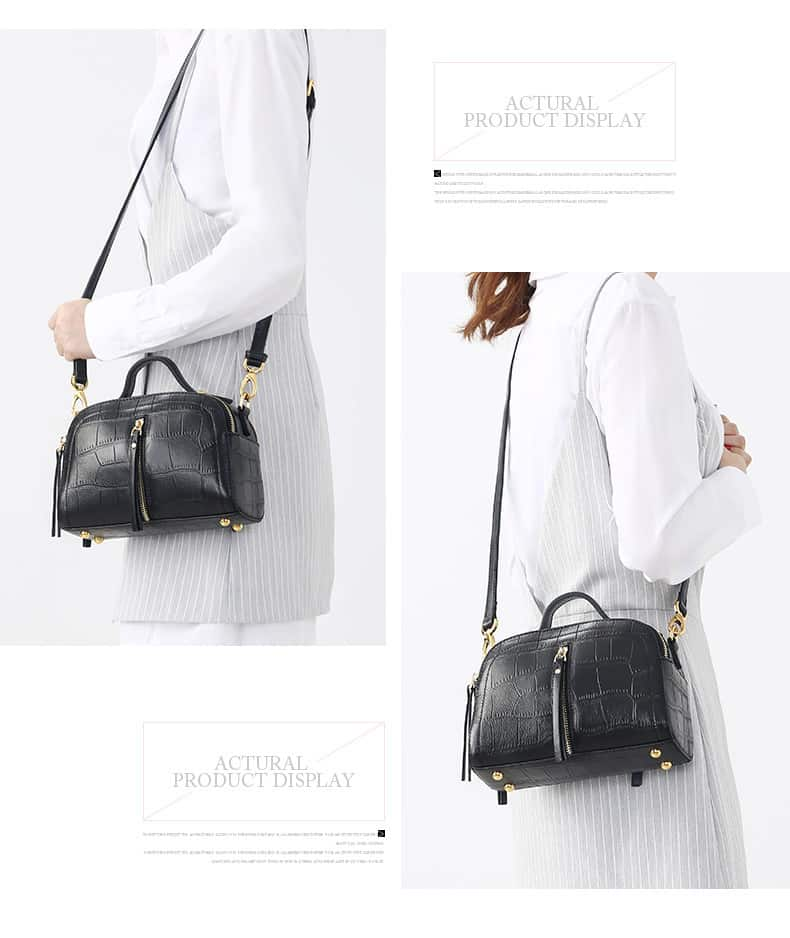 Women's leather handbag, cowhide fashion high-end handbag.18051201-1-3